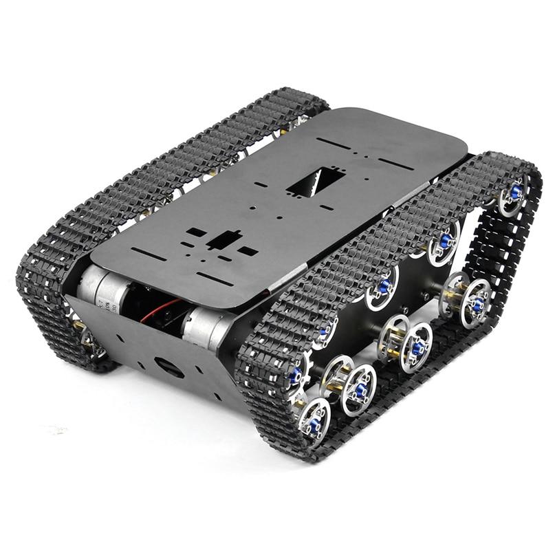 цена на feichao Smart Robot Aluminum Alloy Car Tank Chassis Kit Big Platform with Motors for DIY Remote Control Robot Car Toys