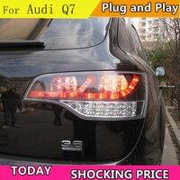 Стайлинга автомобилей хвост лампа для Audi Q7 задние фонари 2006 2009 для Audi Q7 светодиодный фонарь заднего хода лампы ДРЛ + Тормозная + Park + сигнала с