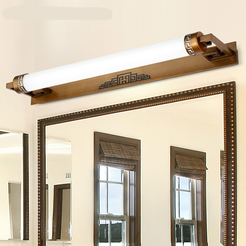 New Classical Vintage Chinese Style Acryl Aluminum Led Mirror Lamp For Bathroom Bedroom Cabinet Light 47/57/87cm 1029 new high end classical chinese style acryl aluminum led mirror light for bathroom bedroom living room wall lamp 1026