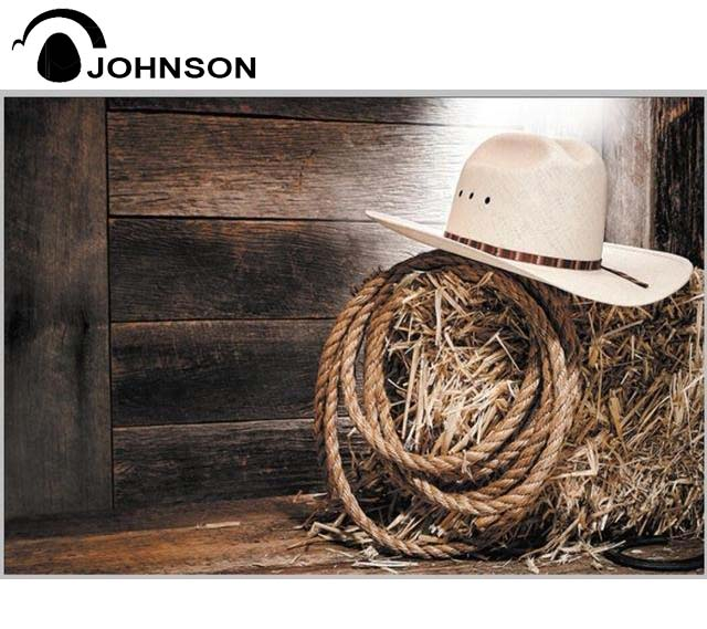 Cowboy Hat Barnyard Old Country Barn Wood Backgrounds High-quality Vinyl cloth Computer printed party  photo backdrop cartoon candy display backgrounds vinyl cloth computer printed wedding backdrop