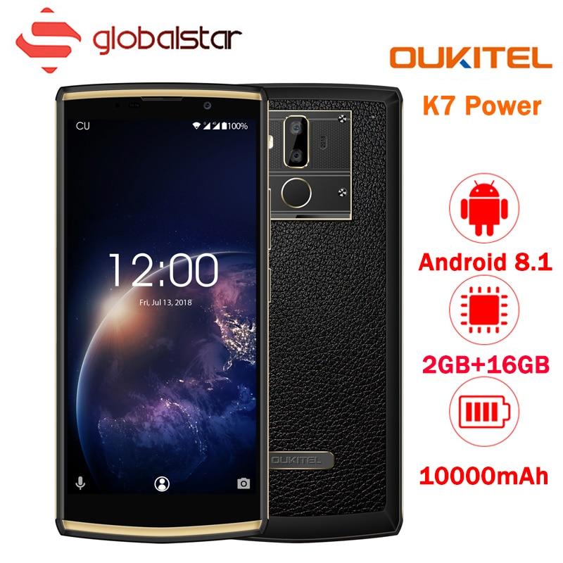 Oukitel K7 Power 18:9 6.0 ''FHD Smartphone 10000 mah 9 v/2A 2 gb di RAM 16 gb di ROM MT6750T octa Core Telefoni Cellulari di Impronte Digitali Del Telefono Mobile