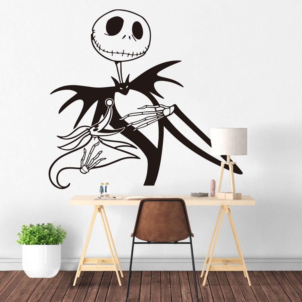 Jack skellington wall sticker kids room bedroom nightmare before christmas wall decal zero dog living room