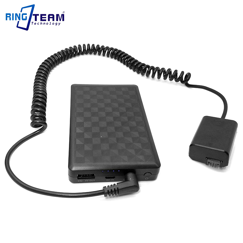 28Wh Power Bank Plus <font><b>NP</b></font>-<font><b>FW50</b></font> Dummy <font><b>Battery</b></font> AC-PW20 PW20 DC Coupler for <font><b>SONY</b></font> A7000 A6500 A6300 A6000 A5000 A7 A7R A7S RX10 Camera image