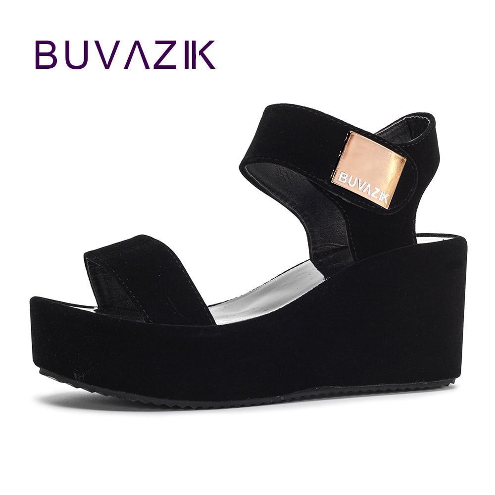 2018 envío gratis sandalias de mujer plataforma zapatos de tacón de cuña correa de tobillo de verano suave para mujer zapato de tacón alto tamaño grande 41