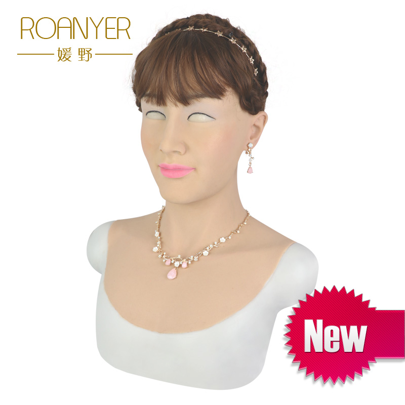 Roanyer Silicone maschere di halloween Beautiy femminile maschera In Lattice per crossdresser trans transgender drag queen crossdressing