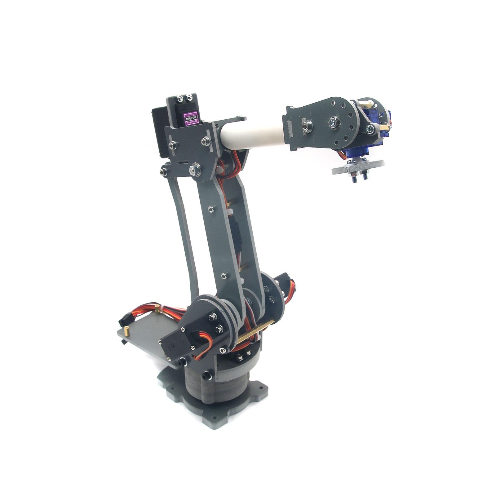 ABB 6DOF Industrial Robot Mechanical Arm Alloy Robotics Arm Rack with Servos for Arduino Assembled official doit 6 dof robot arm vehicle mounted robot arm for smart sar robot servos bracket mechanical manipulator aluminum