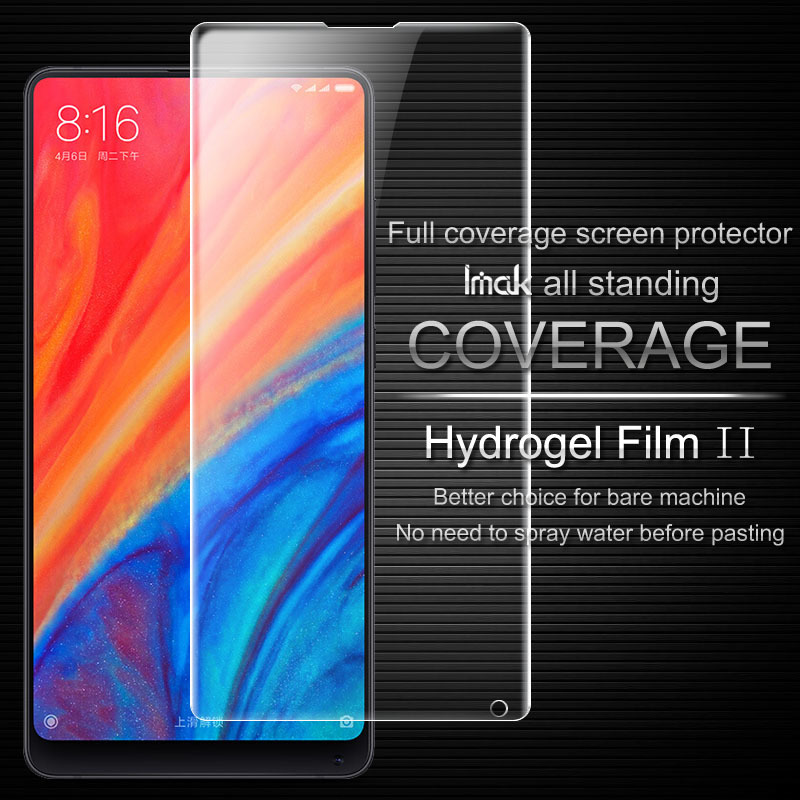 Xiaomi MI MiX 2S Screen Protector IMAK Hydrogel II Front&Back Soft TPU Protective Film For Xiaomi Mi MiX 2S /MiX2 S Not Glass