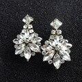 N2016053018 pendientes cristalinos de moda de calidad superior novia claro flor pendientes brincos pendientes pendientes para mujeres