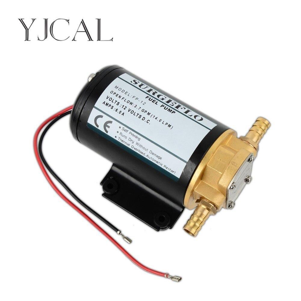 FP-12 12 V 24 V DC engrenage huile pompe à essence auto-amorçante Micro aspiration pompe Diesel rapide ventouse lubrification Mini filtre accessoires
