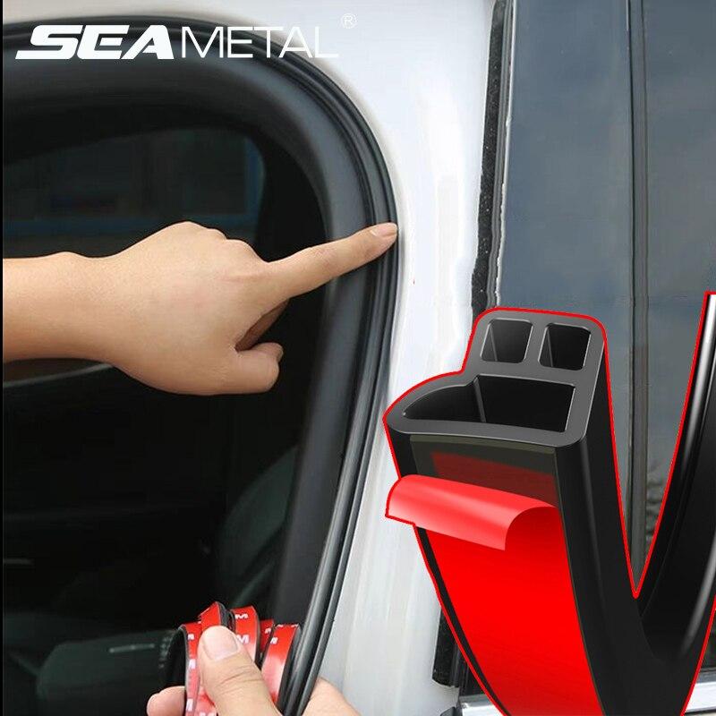4M Car Seal Strip Door Sloping D Shaped Rubber Trunk Hood Weatherstrip Edge Trim