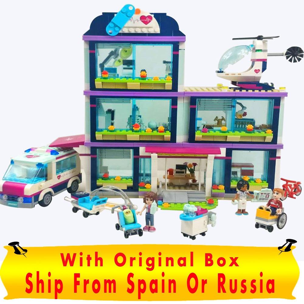 LEPIN 01039 Heart lake Hospital Construction Toy Friends Girls Series 932pcs Building Blocks Compatible 41318