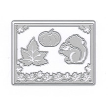 YaMinSanNiO Metal Cutting Dies Scrapbooking For Card Making DIY Embossing Cuts New Craft Squirrel Cover Leaves Pumpkin
