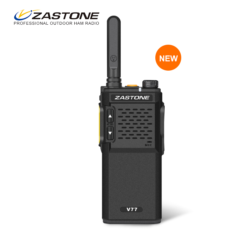 Zastone ZT-V77 Mini Ham Two Way Radio Walkie Talkie UHF400-470MHz Talkie Walkie CB Radio Communicator Ultralight Portable Radio