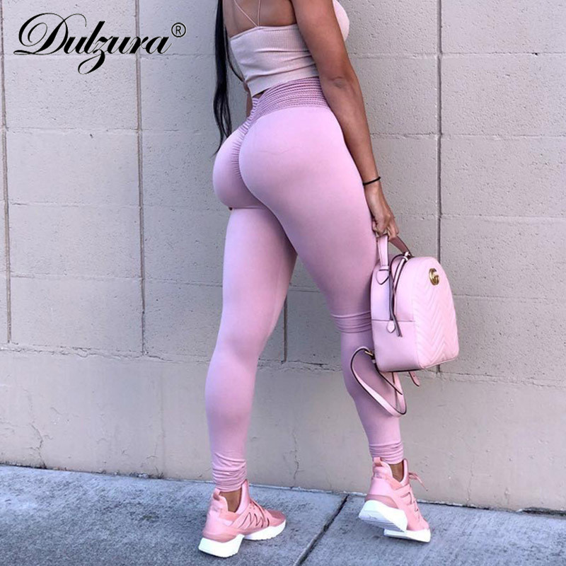 Dulzura 2018 autunno inverno push up ghette sexy delle donne abbigliamento sportivo leggins di allenamento fitness a vita alta sportivi di legins