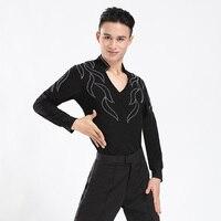 Nieuwe 2017 Groothandel Custom Mannen Jongens Latin Dance Shirt Jurken Ballroom Latin Tops Jongen Dans Jurken