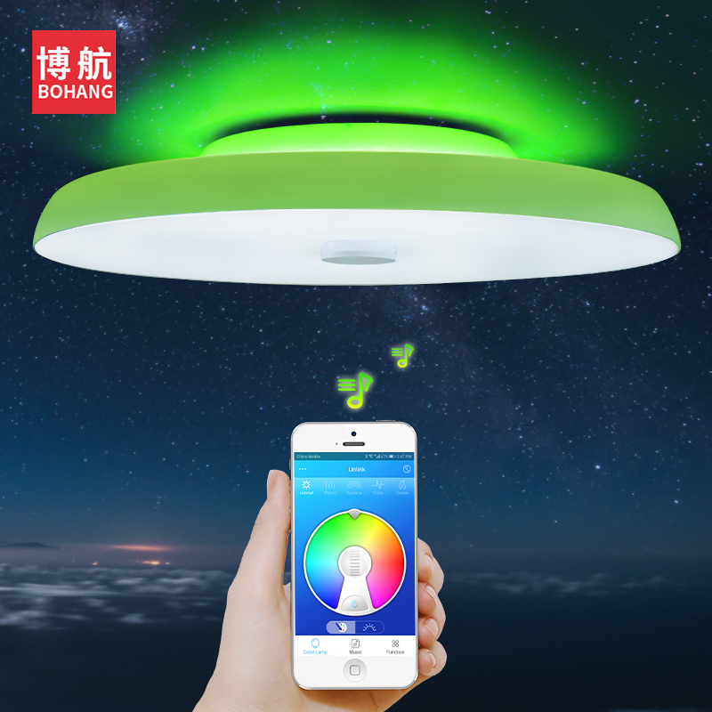 Modern LED ceiling Lights Dimmable 36W 48W 72W APP Remote control Bluetooth Music light speaker foyer bedroom Smart ceiling lamp [dbf]e27 10w bluetooth speaker for mobile smart led light lamp music wireless speaker color change dimmable by ios android app