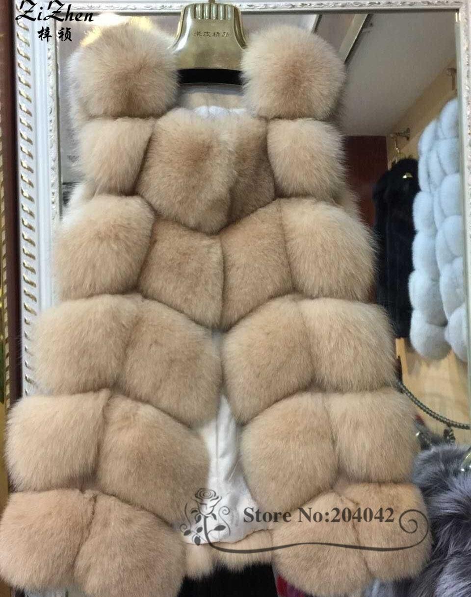 Zizhen winter echte fuchspelz weste frauen volle fell weste warme - Damenbekleidung - Foto 2