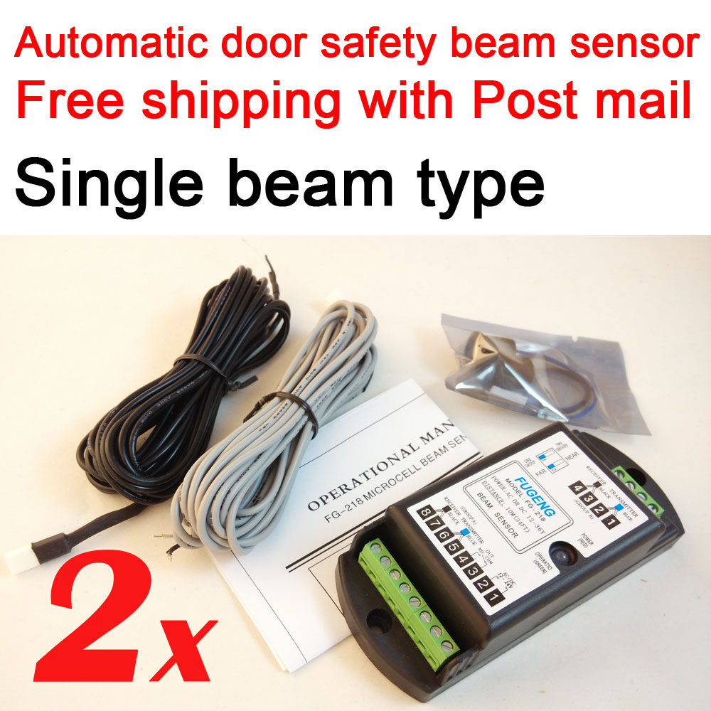2 sets Free shipping with Post airmail Single beam type automatic door safety sensor door open microcell photocell sensorFG-218 цена