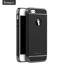 IPAKY For iPhone 5S Case 3 In 1 Electroplate Shock absorption Frames PC Matte Back Cover For iPhone 5/5SE Case Fundas Capa