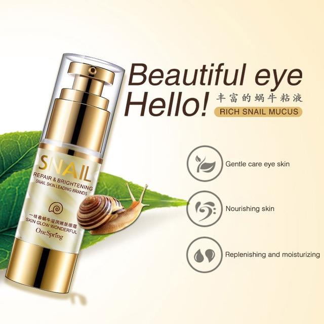 35ml OneSpring Eye Cream Gold Snail Essence Eye Bag Removal Dark Circle Eye Repair Anti Puffiness Anti Aging Anti Wrinkle Care 4
