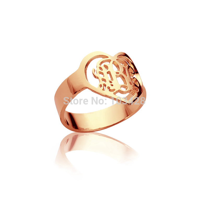 l s diamond gold monogram property accented size initial ring rings yellow room wedding letter