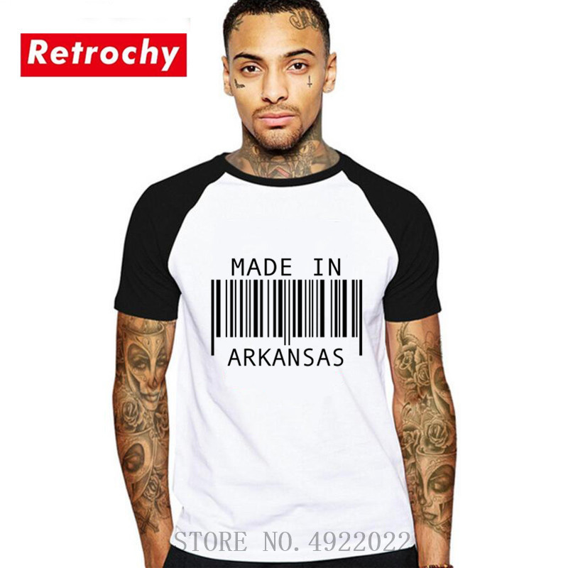 Summer funny design t shirt made in <font><b>arkansas</b></font> t-shirt Creative custom men hip hop cotton short O-neck tee Hombre camisetas tshirt image