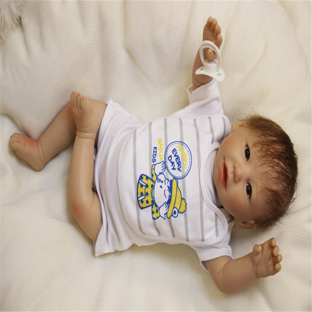 SanyDoll 20 inch 50 cm Silicone baby reborn dolls, Lovely doll birthday gift for boys and girls holiday gifts