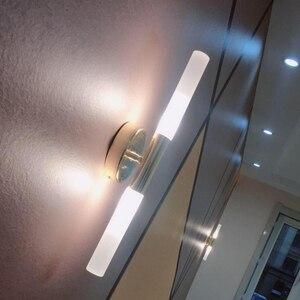 Image 3 - Modern metal tube pipe up down LED wall lamp light sconce Bedroom foyer washroom living room toilet bathroom wall light lamp LED