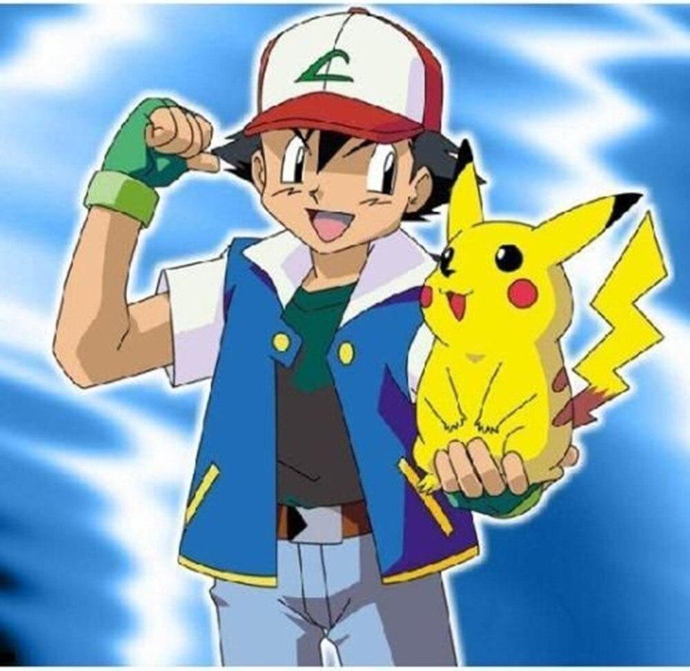 CaGiPlay Pokemon Ash Ketchum Treinador Cosplay meninos de Alta Qualidade crianças Jaqueta Luvas Chapéu Ash Ketchum Traje para as crianças