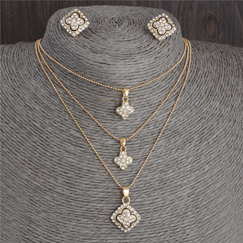 Austrian Crystal Golden Plated Jewelry Set