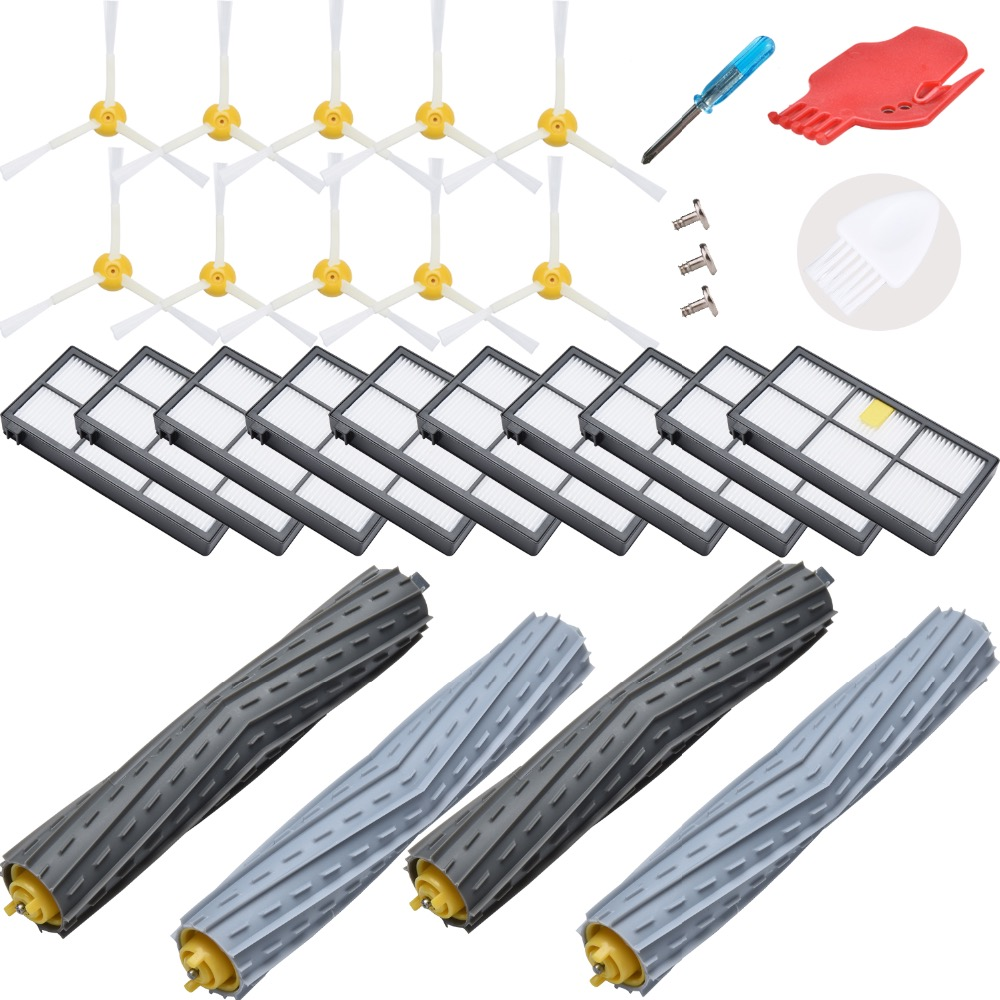 24-Pack  side brushes debris extractor HEPA filter for iRobot Roomba 980 960 800 860 880 for irobot roomba accessories24-Pack  side brushes debris extractor HEPA filter for iRobot Roomba 980 960 800 860 880 for irobot roomba accessories