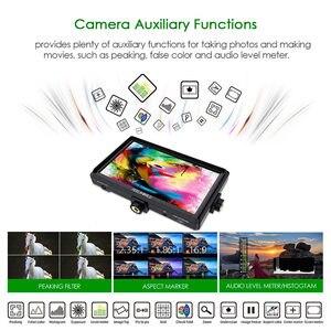 Image 4 - Feel world FW568 5.5 بوصة IPS 4K على كاميرا جهاز المراقبة الميدانية ل DSLR HDMI صغير كامل HD 1920x1080 الفيديو التركيز مساعدة مع الذراع الميل