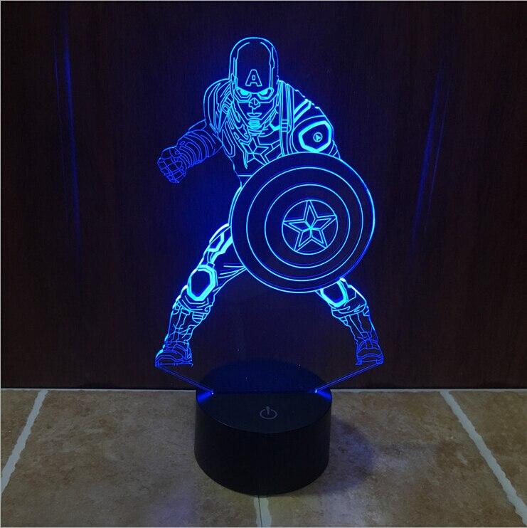 Marvel Civil War Captain America Color Changing Light 3D