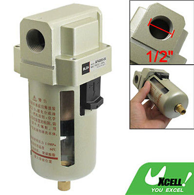 Aluminum Alloy Case PT 1/2 Thread Dia. Pneumatic Air Filter for Compressor 13mm male thread pressure relief valve for air compressor