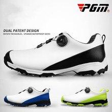 Новинка года PGM обувь для гольфа для мужчин's непромокаемые Нескользящие дышащие спортивные туфли двойной лакированной вращающейся обув