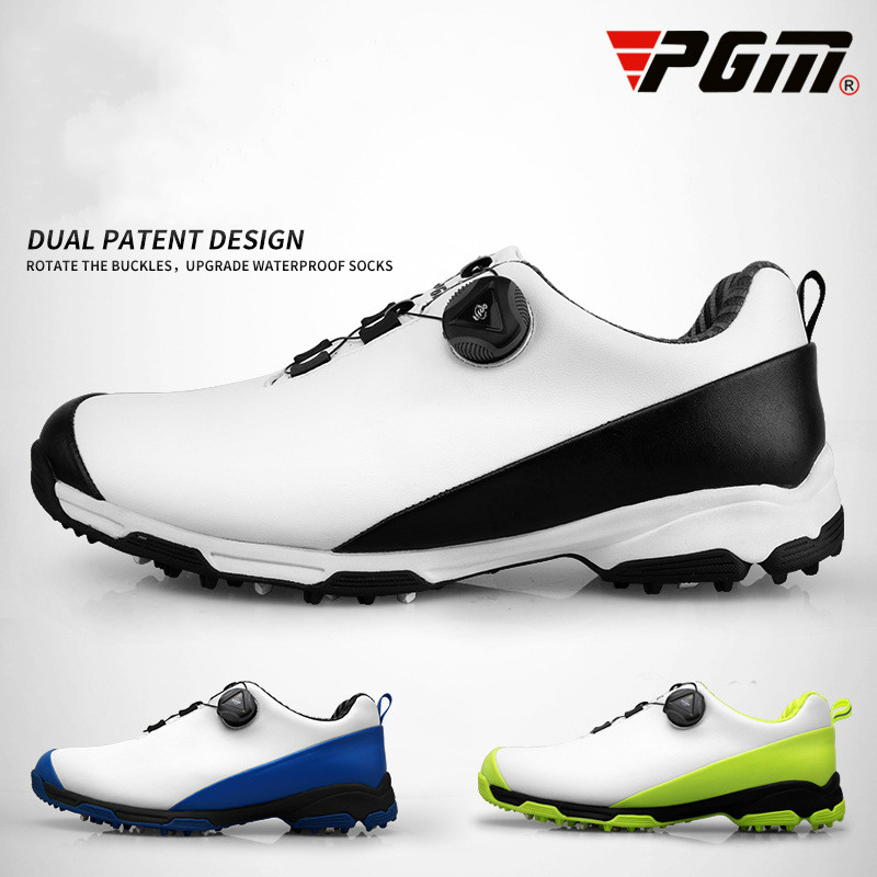 2018 New PGM Golf Shoes Mens Waterproof Anti Skid Breathable  Sports Shoes Double Patent Revolving Shoe Buckle Sneakers2018 New PGM Golf Shoes Mens Waterproof Anti Skid Breathable  Sports Shoes Double Patent Revolving Shoe Buckle Sneakers
