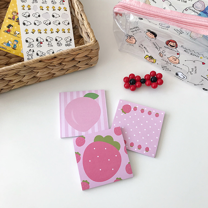 SIXONE 50 Sheets kawaii Cherry Strawberry Love Handbook Pink Girl Notebook Student Portable Message Book stationery diary in Memo Pads from Office School Supplies