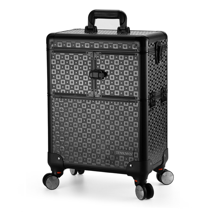 TENSUNVIS Makeup Case aesthetic black professional universal wheels trolley cosmetic box makeup case the best beauty case 4622