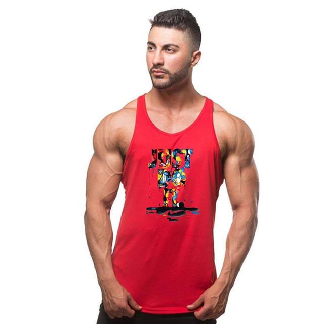 2018Summer cotton clothing Fitness Tank Top Men Stringer Golds Bodybuilding Muscle JUST DO IT Shirt Workout Vest gyms Undershirt