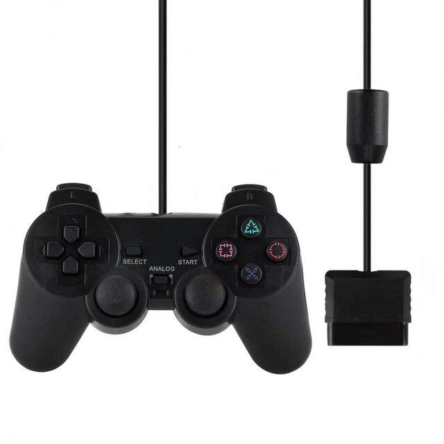 غمبد سلكي لجهاز سوني PS2 متحكم لعصا التحكم ماندو PS2/PS2 لبلاي ستيشن 2 الاهتزاز صدمة Joypad تحكم سلكي