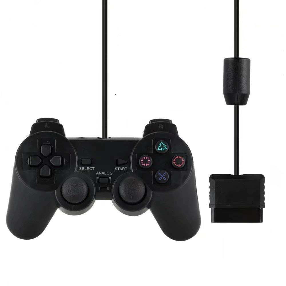 Wired Gamepad for Sony PS2 Controller for Mando PS2/PS2 Joystick for plasystation 2 Double Vibration Shock Joypad Wired Controle for sony ps2 play station 2 joypad gamepad to for ps3 pc usb games controller adapter converter without driver