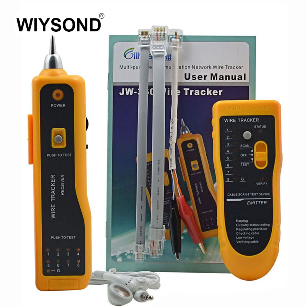 JW 360 NETWORK WIRE CABLE TRACKER LINE TESTER w/ TONE