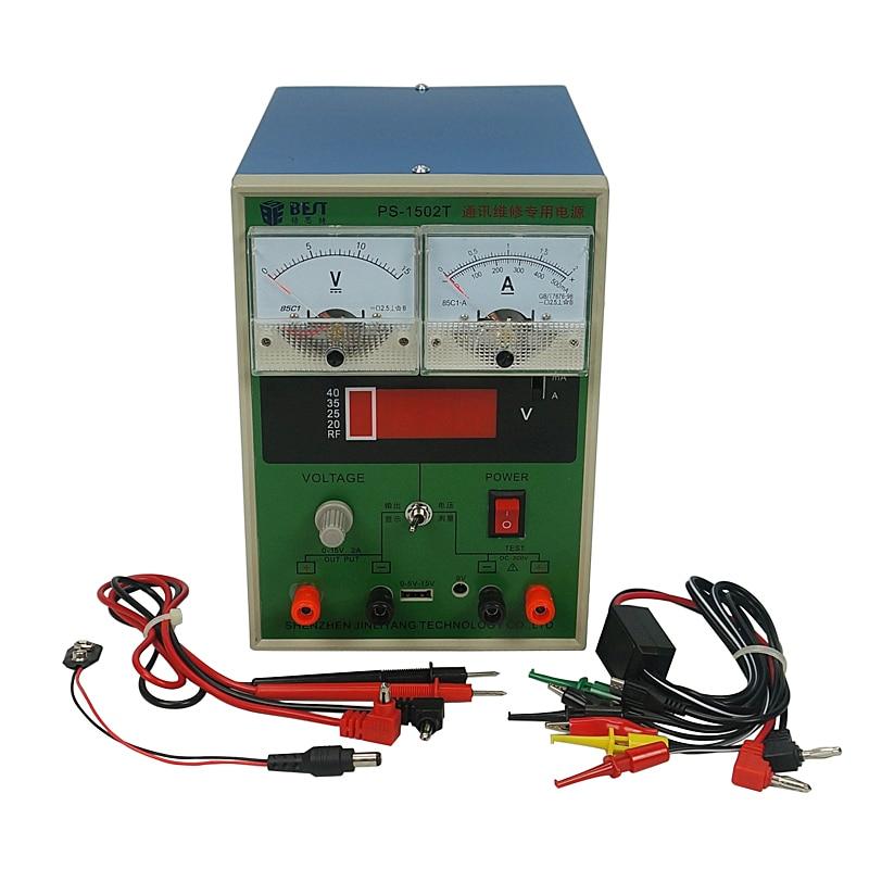 Meilleur 1502 T DC dispositif d'alimentation 15V2A Test de communication Signal Mobile réparation de téléphone réglable régulé