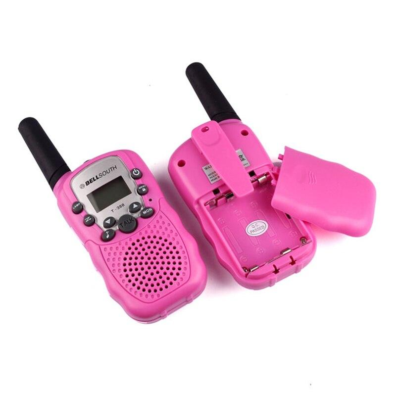 2pcs Portable Wireless Walkie-talkie Set Eight Channel 2 Way Radio Intercom 5KM Travel Hot Pink Futural Digital jiu28