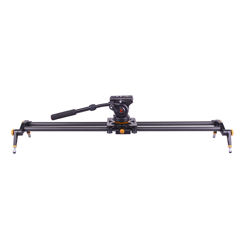 Image 2 - DIGITALFOTO Carbon fiber camera slider 10kg bear travel video slider dolly track dslr rail for Nikon Canon Sony videographer-in Rail Systems from Consumer Electronics