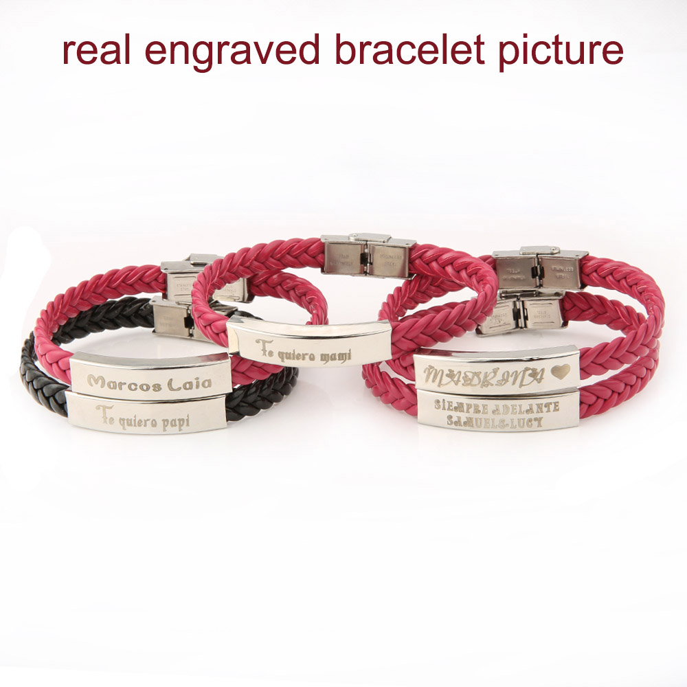 AZIZ BEKKAOUI tilpasset logo ID armbånd navn armbånd par armbånd - Mode smykker - Foto 2