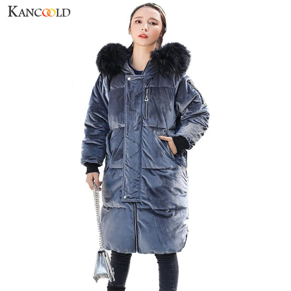 fur winter coat thickened parka women stitching slim long winter coat down cotton ladies down parka velet jacket women 2017 no24 pregnant women coat autumn and winter cotton fashion long section slim was thin feather cotton clothing thickened cotton jacket