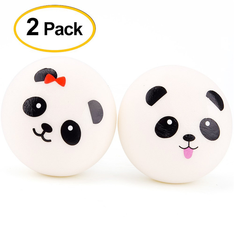 2PCS New 7cm Cute Cake Cream Scented Squishy Toy Slow Rising Squeeze Strap Kid Toy Gift For Kid Children Boy Girl A1