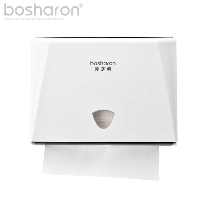 7373e176f10 Z Folding Paper Towels Dispenser Tissue Box Holder Wall Mounted ABS Plastic  Kitchen Accessories White Gold