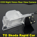 CCD night vision with 4 LED lamps Car Rear View Reverse Camera FOR Skoda Rapid Car